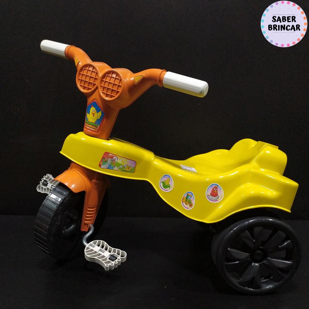 ✨Motoca Galinha Pintadinha- Triciclo com Empurrador