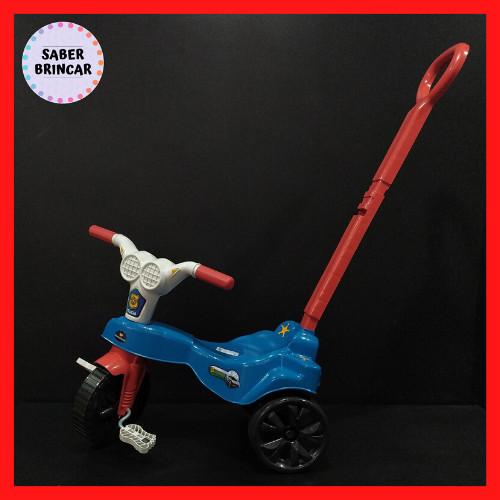 ✨Motoca Polícia- Triciclo com Empurrador