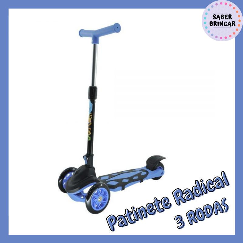 🛴Patinete Radical 3 Rodas - Azul