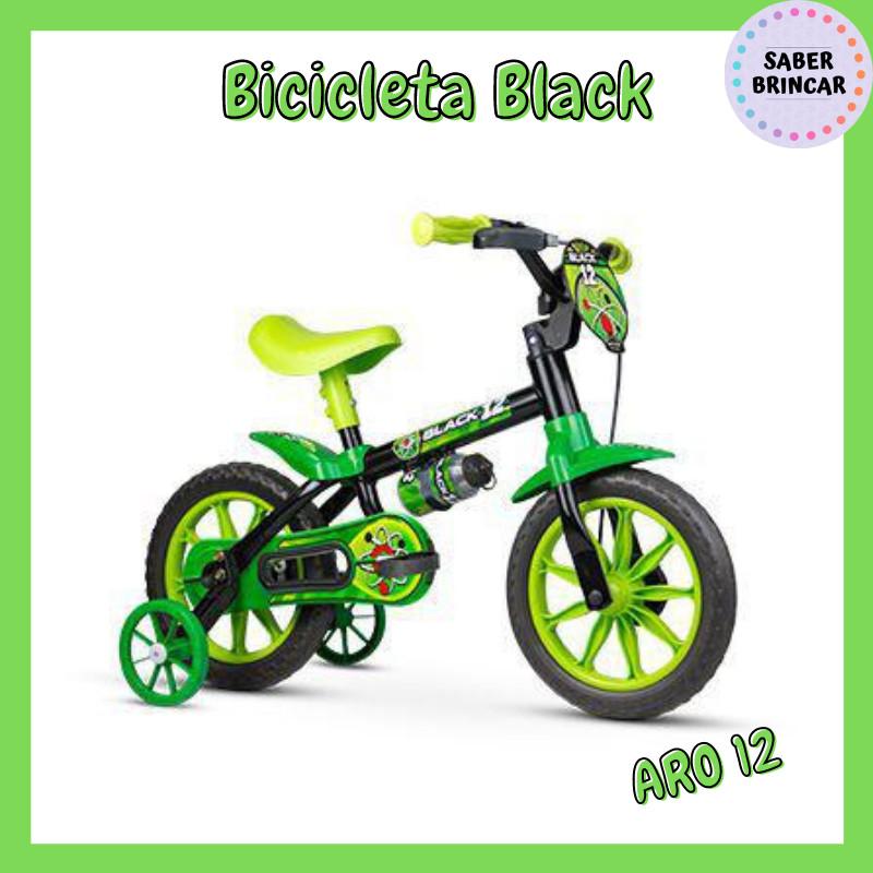 ✨ Bicicleta Black  - Aro 12