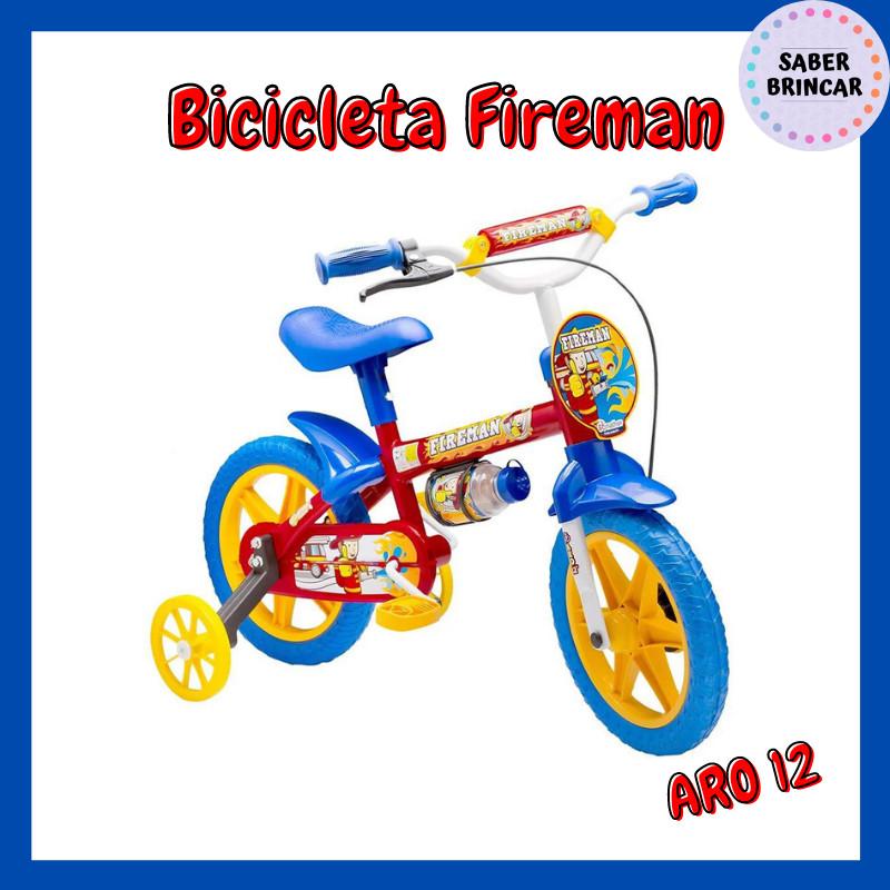 ✨ Bicicleta Fireman - Aro 12