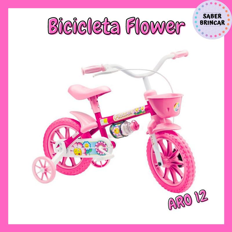 ✨ Bicicleta Flower - Aro 12