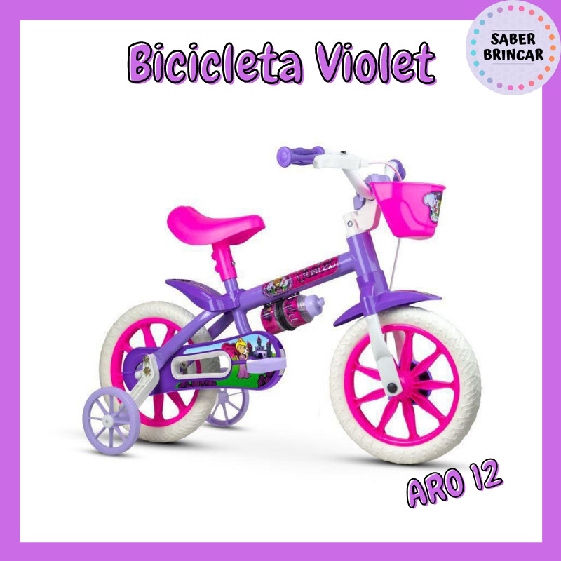 ✨ Bicicleta Violet - Aro 12