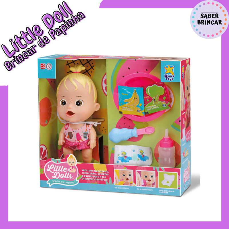 👸Boneca Little Dolls - Brincar de Papinha