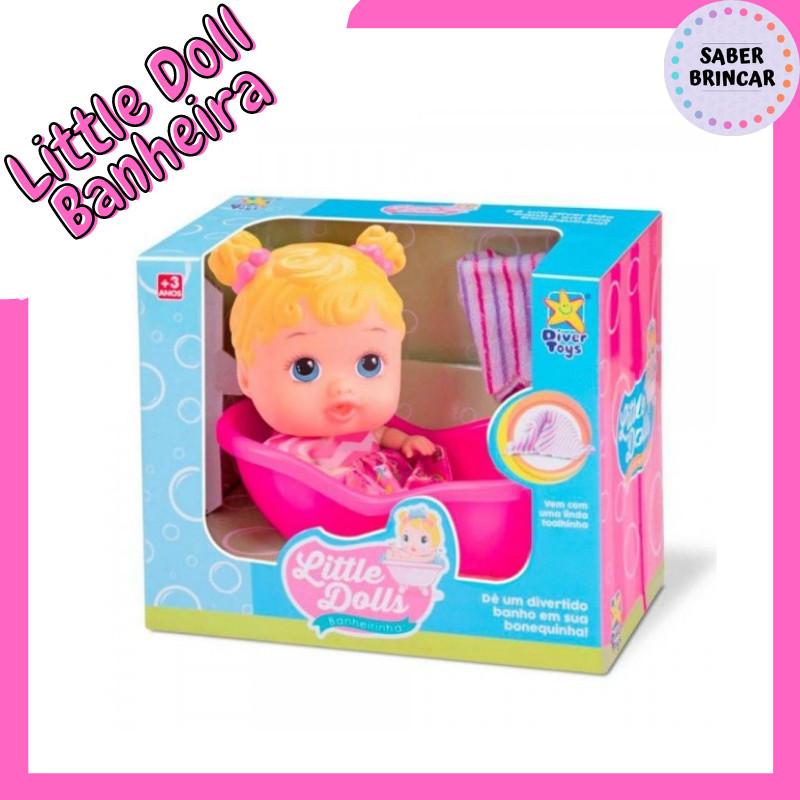 👸Boneca Little Dolls Banheirinha