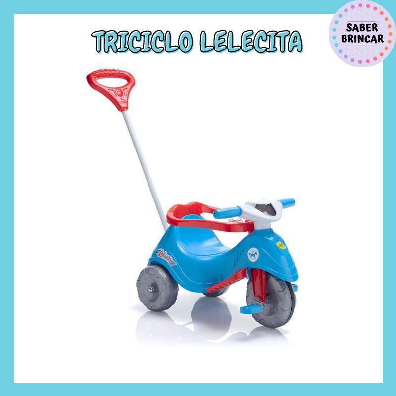 Triciclo Lelecita Azul - Carrinho de Passeio e Triciclo