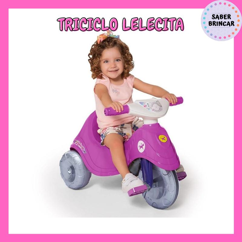 🚙 Triciclo Lelecita Azul - Carrinho de Passeio e Triciclo