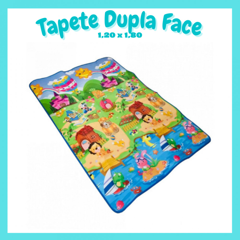 😍Tapete Dupla Face - 1,20m x 1,80m