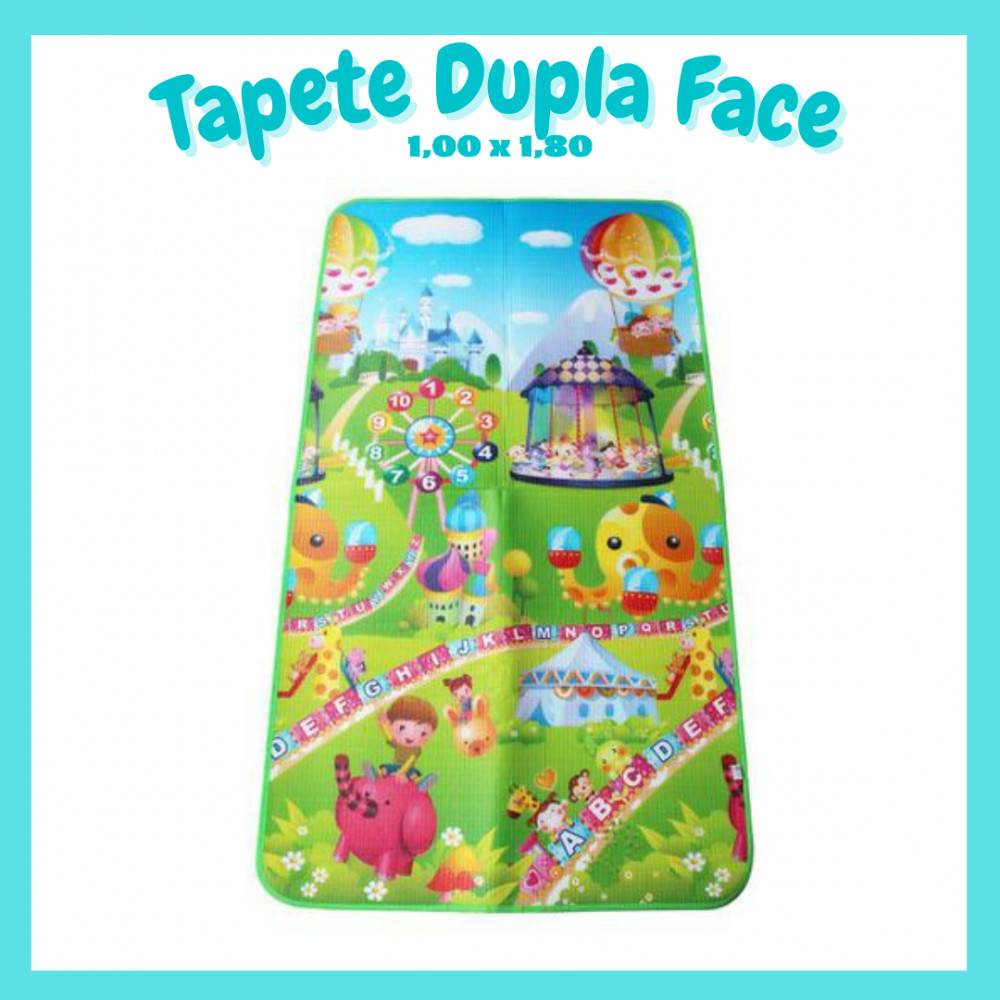 😍Tapete Dupla Face - 1,00m x 1,80m